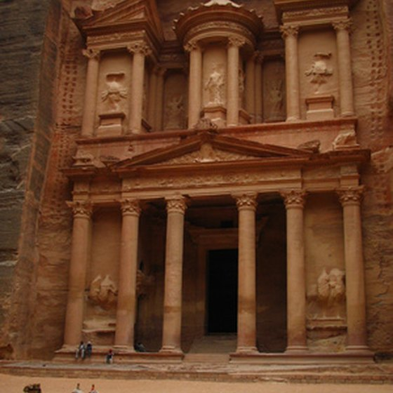 The Jordanian ruins at Petra are known throughout the world.