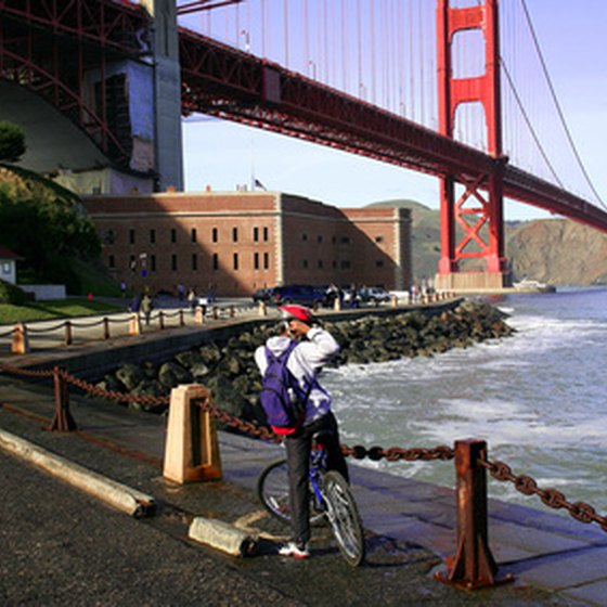 California's Bay Area beneath the Golden Gate Bridge.