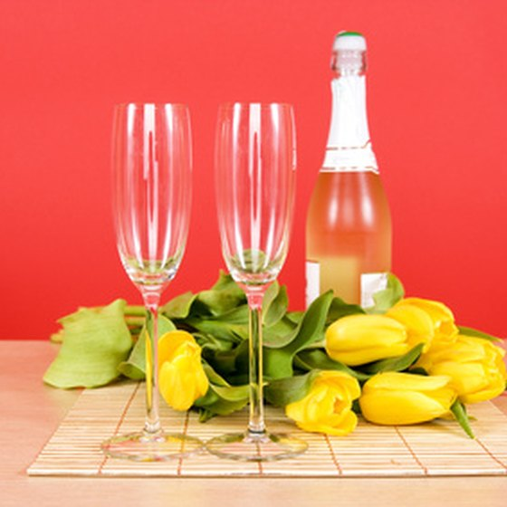 Romance vacations include a bottle of champagne or wine, and a rose or flower deliveries.