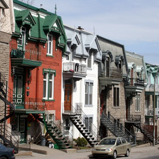 Rue de Montreal in Old Town Montreal.