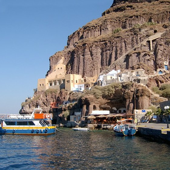 Cliffside Santorini is a highlight of many Greek Isles cruises.