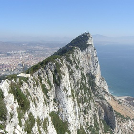 The Mediterranean Sea meets the Atlantic Ocean at Gibraltar