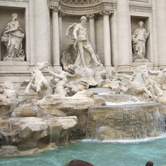 Rome's Trevi Fountain is one of the world's most visited Baroque masterpieces.