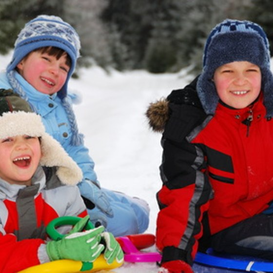 Bundle up the kids for snow-tubing adventures.