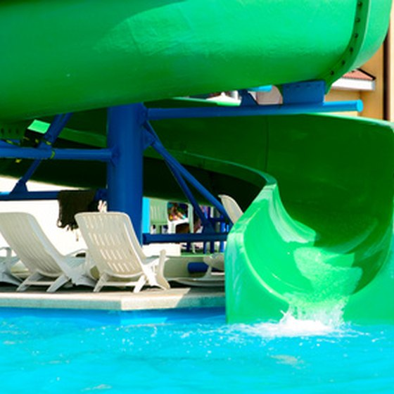Giant waterslides are featured in most resorts.