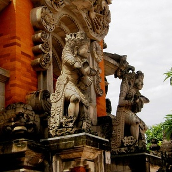 Bali is home to exotic shrines and temples