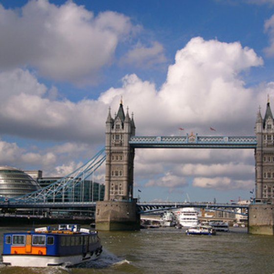 Behold London's Tower Bridge while chugging along the murky Thames River.