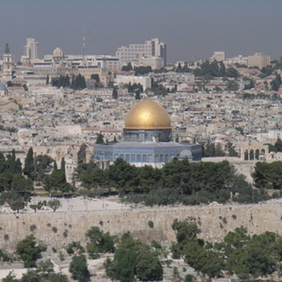 The Temple Mount in the city of Jerusalem.