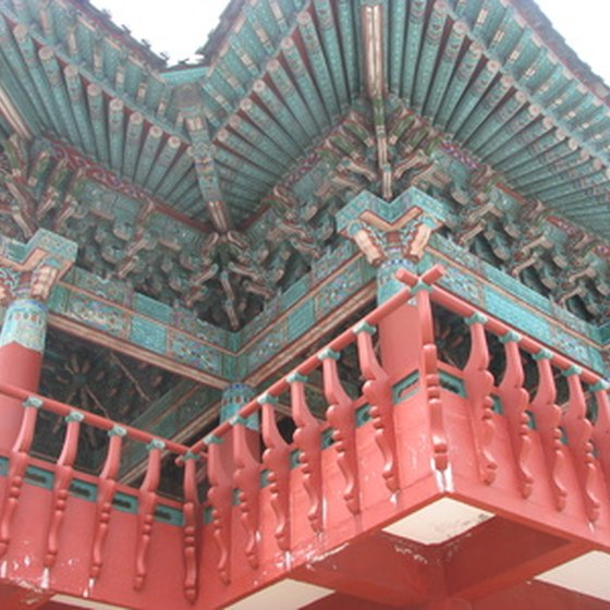 Ancient temples are some of the sites visited during Korean tours.