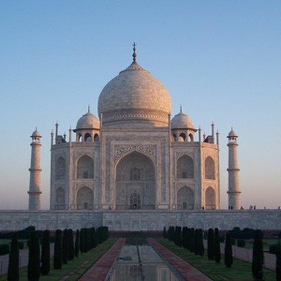 Agra's famous landmark, the Taj Mahal