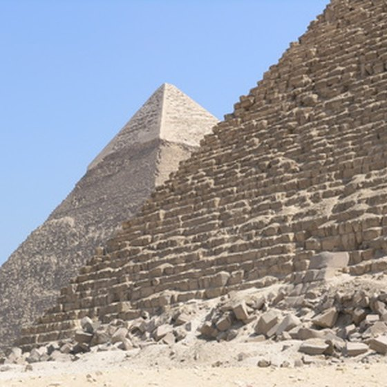 The Pyramids of Giza can be seen on the Smithsonian Nile cruise tour.