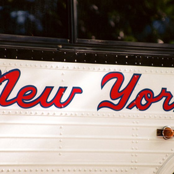 Take a sightseeing bus tour to view New York City's top attractions.