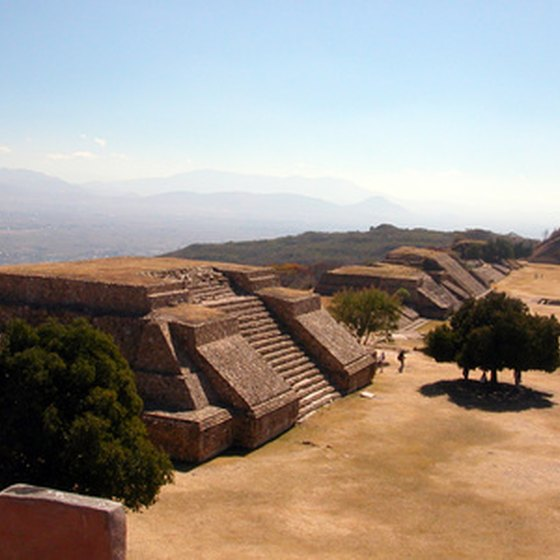 Monte Alban's mountain top location makes it one of Mexico's most dramatic ancient sites