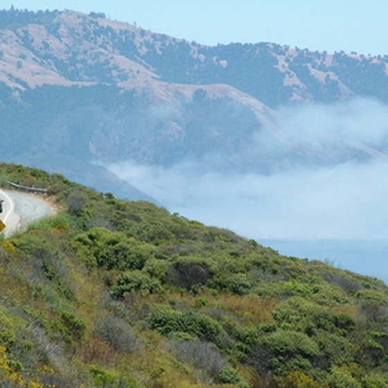 Highway 1 follows the ocean in many areas in California.