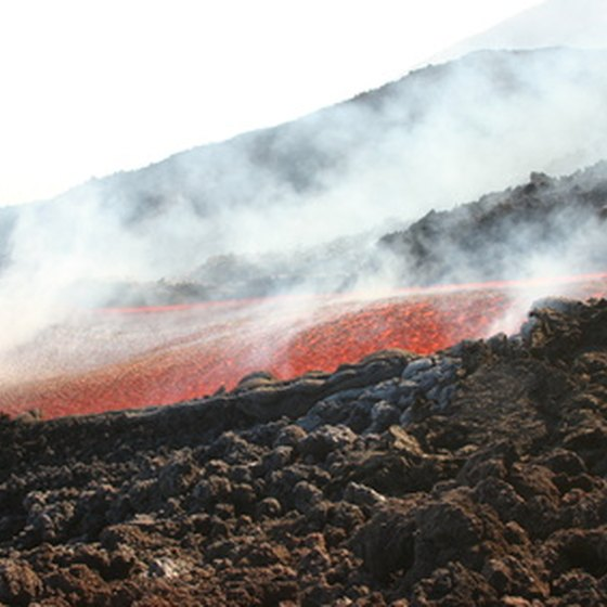 Lava flows are a constant presence at Mount Etna.