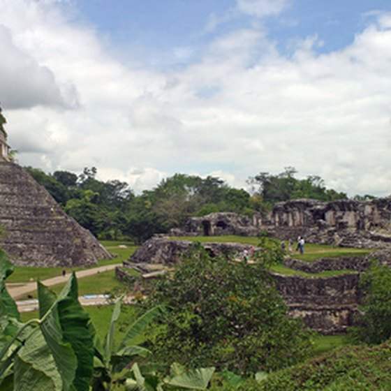 The ruins of the ancient Mayan city, Palenque, in Chiapas, Mexico.