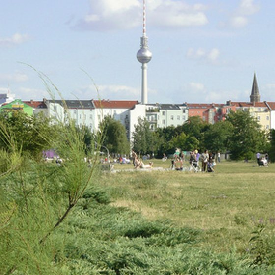 A view of Berlin from Mauer Park in Prenzlauer Berg
