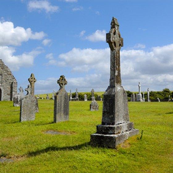 Megalithic cemeteries pepper the landscape on the western Irish coast.