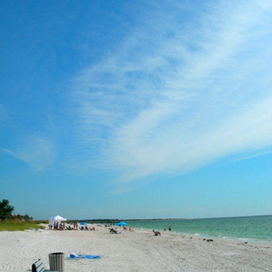 Okaloosa Island is known for its beautiful white sand beaches.