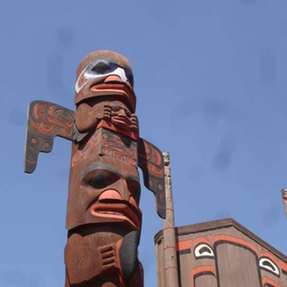 The totem pole is a traditional symbol of Northwest Coast art.