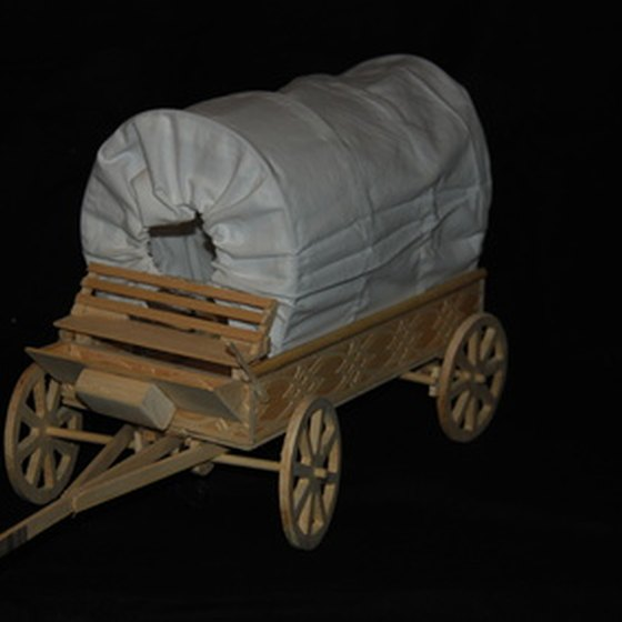 Covered wagons carried supplies, not passengers, along the Oregon Trail.