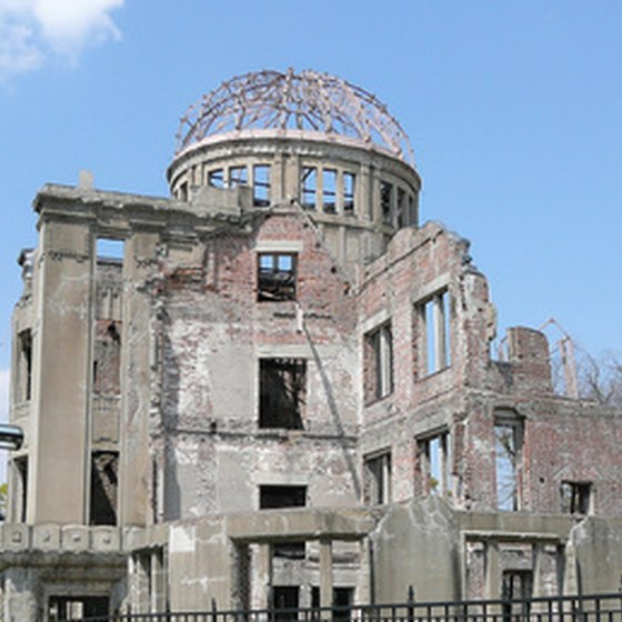 "The Hiroshima Peace Memorial, known as the ""Atomic Bomb Dome."""
