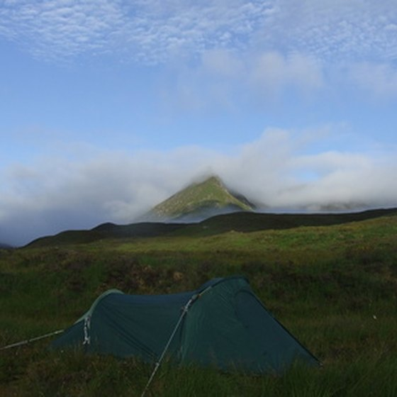 Put up a tent to get a more up-close experience of the wilds while you camp at a permanent site.