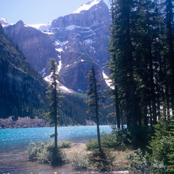 Banff National Park scenery.