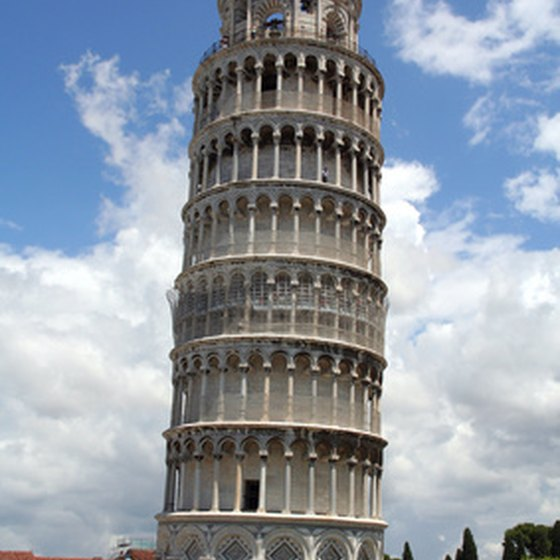 The Leaning Tower of Pisa has drawn tourists since the 12th century.