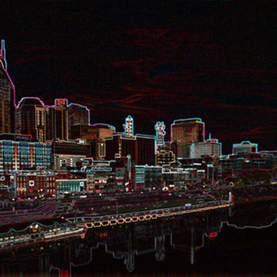 Nashville, Tennessee lights up the night