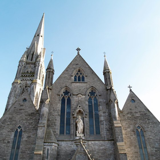 Check out some of the old cathedrals in Cork, Ireland.