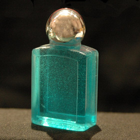 A small bottle of perfume under 3.4 oz. is safe for air travel.
