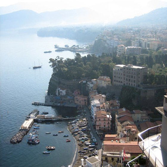 A view of the Sorrento Marina from the air