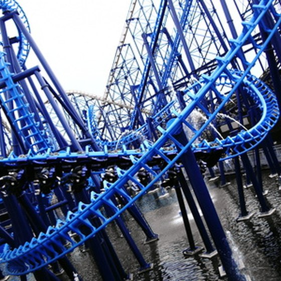Scream your head off on one of Six Flags' many rollercoasters.