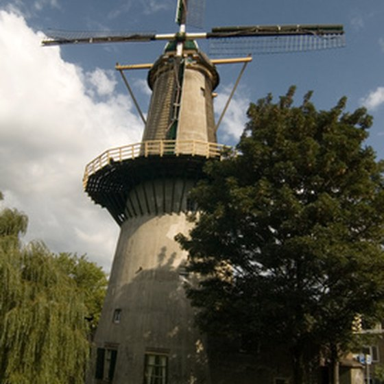 Windmills are iconic fixtures in Holland.