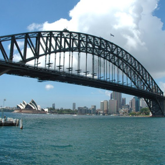 The Sydney Opera House and Harbour Bridge.