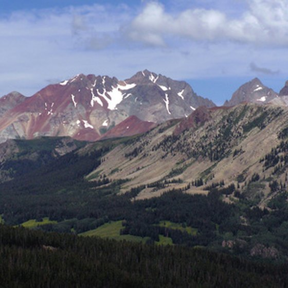 Scenery in Pagosa Springs, Colorado includes the San Juan Mountains.