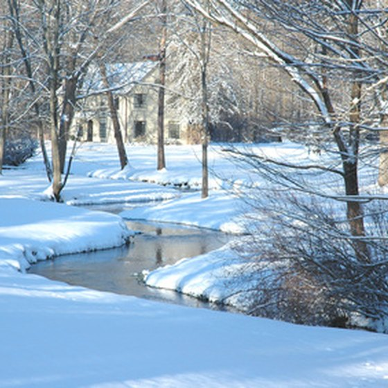 Regular snowfall throughout Michigan creates a winter wonderland for family vacations.