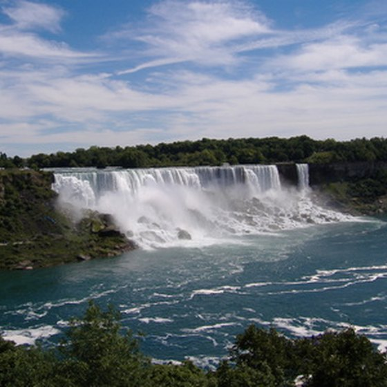 The thundering Niagara Falls is one of New York's most scenic spots.