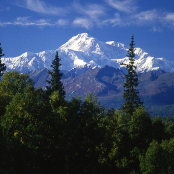 Mt. McKinley rising up over Denali National Park.