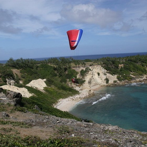 Kite surfing in Barbados