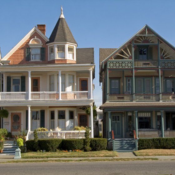 Ocean Grove is filled with Victorian architecture.