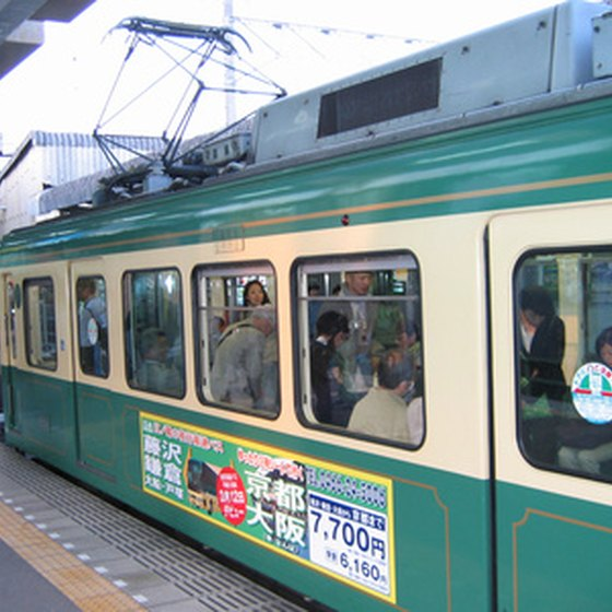 A subway car in Seoul, Korea