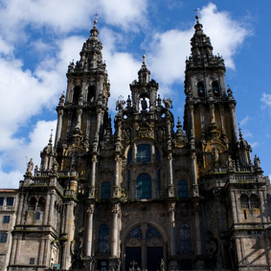 The Cathedral of Santiago de Compostela in the northern province of Galicia.