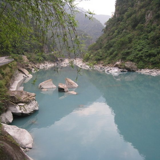 Taroko National Park containing Taroko Gorge can be a day trip from Taipei.