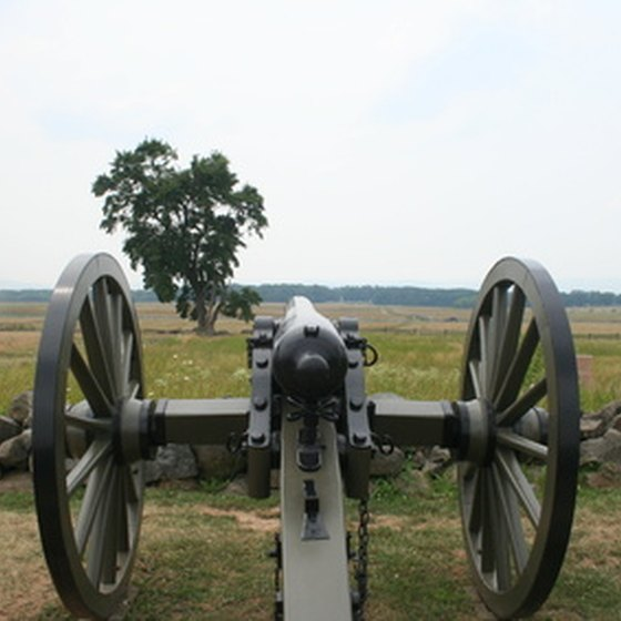 The Gettysburg, Pennsylvania battleground is a popular tourist destination