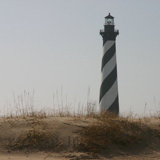 The Cape Hatteras Lighthouse is a striking landmark of the Outer Banks.