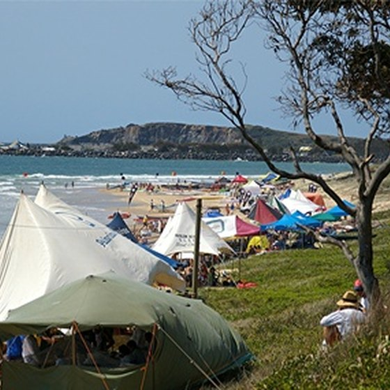 Camping along a Florida beach puts the activities of the beach outside your front door.
