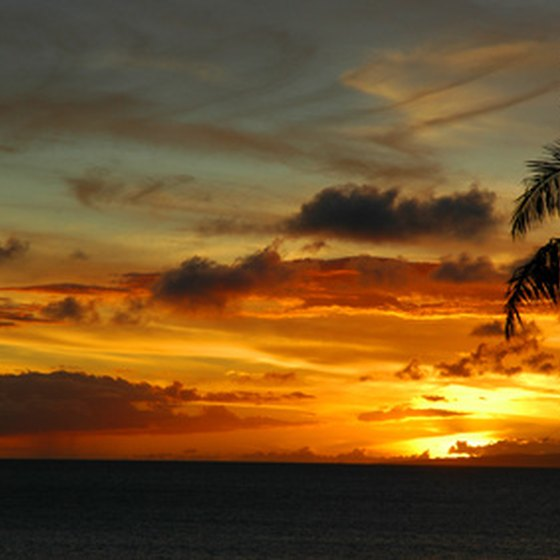 Maui is known for its stunning tropical sunsets.