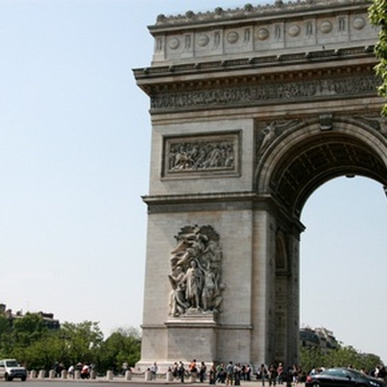 Arc de Triomphe in the 16th Arrondissement.